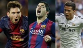 Messi 148 millones de euros; 108 Cristiano; Suárez 102
