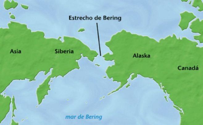 Perros y humanos cruzaron juntos por el estrecho de Bering