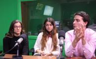 Mateo Noceda, Elina Arocena y Pilar Álvarez.