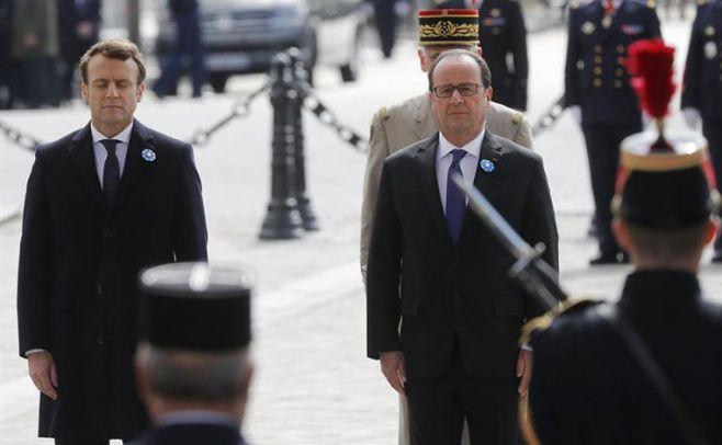 Macron homenajeó a víctimas de la II Guerra Mundial en su primer acto oficial. EFE