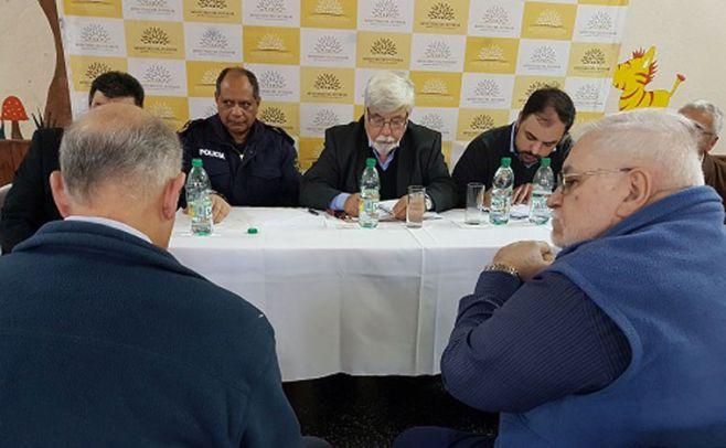 Bonomi se reunió con productores preocupados por aumento de abigeato. Ministerio del Interior