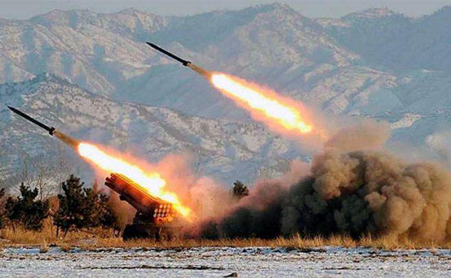 Lanzamiento de misiles en Corea del Norte. Ilustración.  . AFP