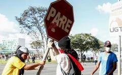 Protesta exige la renuncia de Temer y colapsa Brasilia