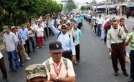Imagen a modo de ilustración. Marcha de salvadoreños