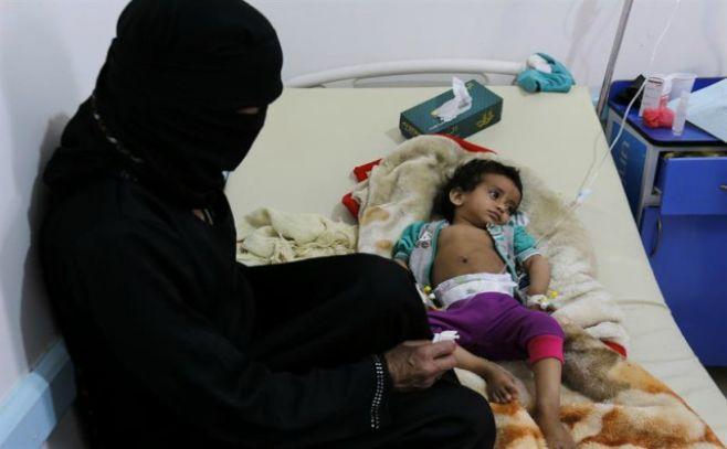 Niños entre los más afectados por epidemia de cólera en Yemen