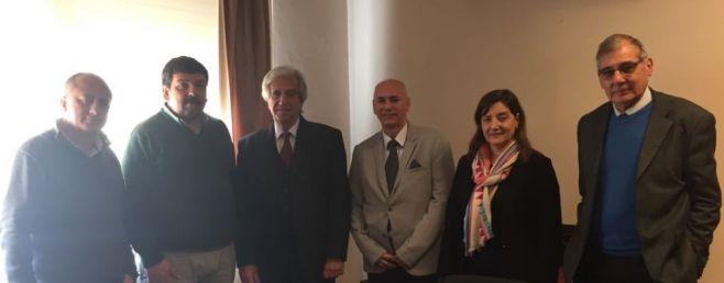Vázquez recibe al Consejo Directivo de FEMI en la Residencia de Suárez