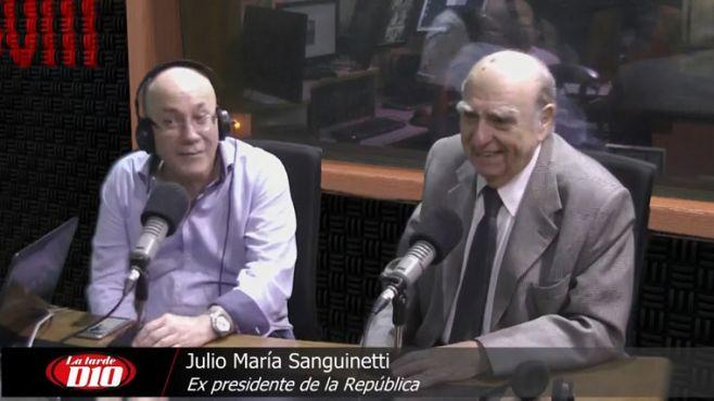 """Sanguinetti: """"Sendic dijo mentiras casi infantiles; es un tema ético, no de delito"""""""