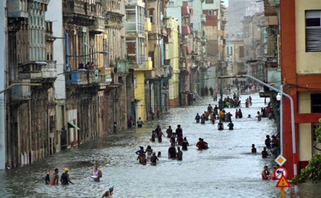 Inundaciones en Cuba luego del huracán Irma. . EFE