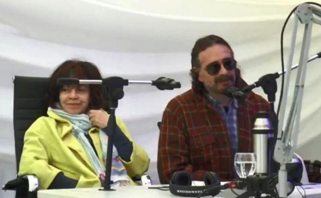 Celeste Verges, subdirectora de Políticas Sociales de la Intendencia de San José y Pedro Peña, escritor y docente de literatura.