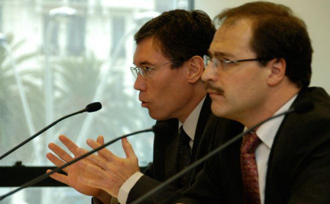 Martín Valcorba y Andrés Masoller. archivo.presidencia.gub.uy