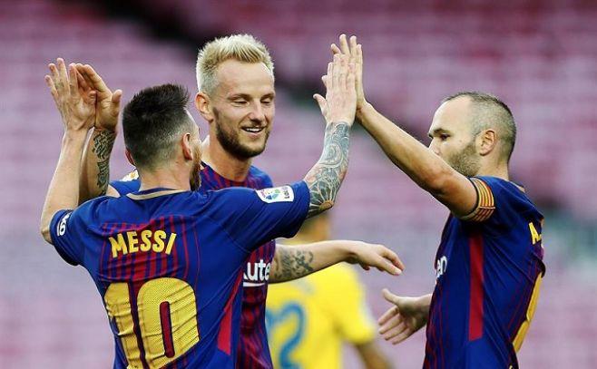 El Barcelona solo en el Camp Nou y cada vez más en el liderato