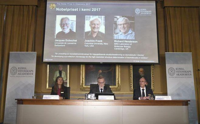 Tres científicos que abrieron los ojos a la bioquímica recibieron el premio Nobel