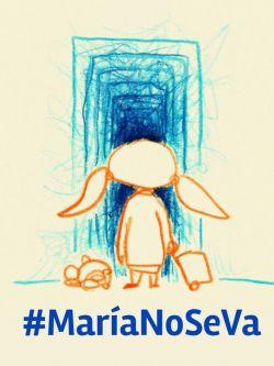 Campaña en redes para que María no se vaya con su hija de Uruguay. Foto: Twitter