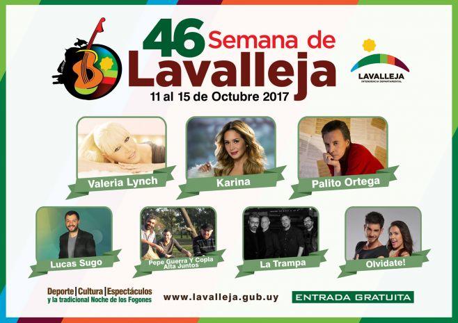 Lavalleja festeja su 46va Semana Internacional