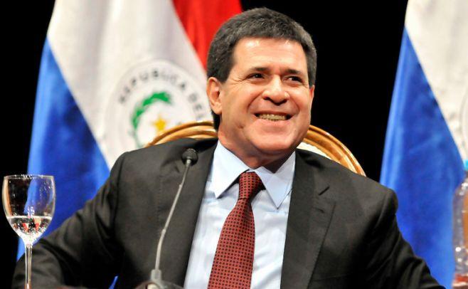 Horacio Cartes, presidente de Paraguay. Foto: Javier Calvelo/ adhoc