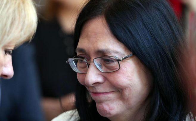 Lourdes Villafaña, esposa de Daniel Viglietti.. Efe