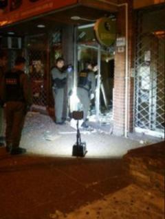 Delincuentes hicieron estallar un cajero automático por cuarta vez
