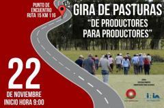 Gira de Pasturas de INIA y Plan Agropecuario mañana en Rocha.