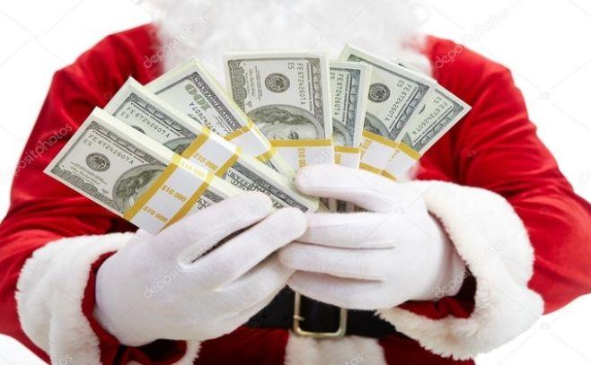 Papá Noel con dinero / . Pressmaster