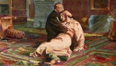 Un hombre daña el cuadro 'Iván el Terrible y su hijo'