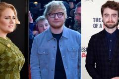 Adele, Ed Sheeran y Daniel Radcliffe, los jóvenes más ricos del Reino Unido
