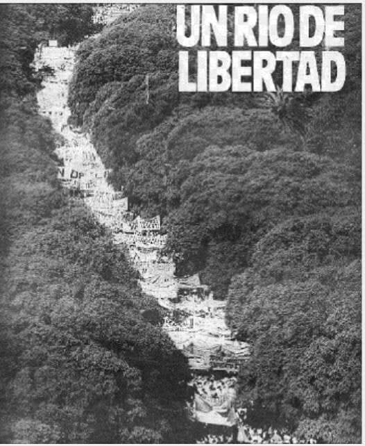 """Hace 35 años corrió un """"río de libertad"""""""
