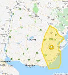 Alerta amarilla para el noreste y este del país