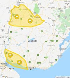 Alerta amarilla para el suroeste y noroeste del país por lluvias y tormentas