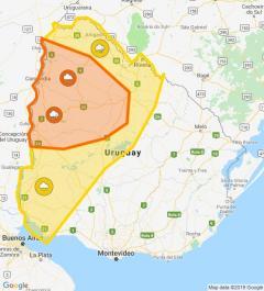 Alerta amarilla y naranja por persistencias de tormentas y lluvias